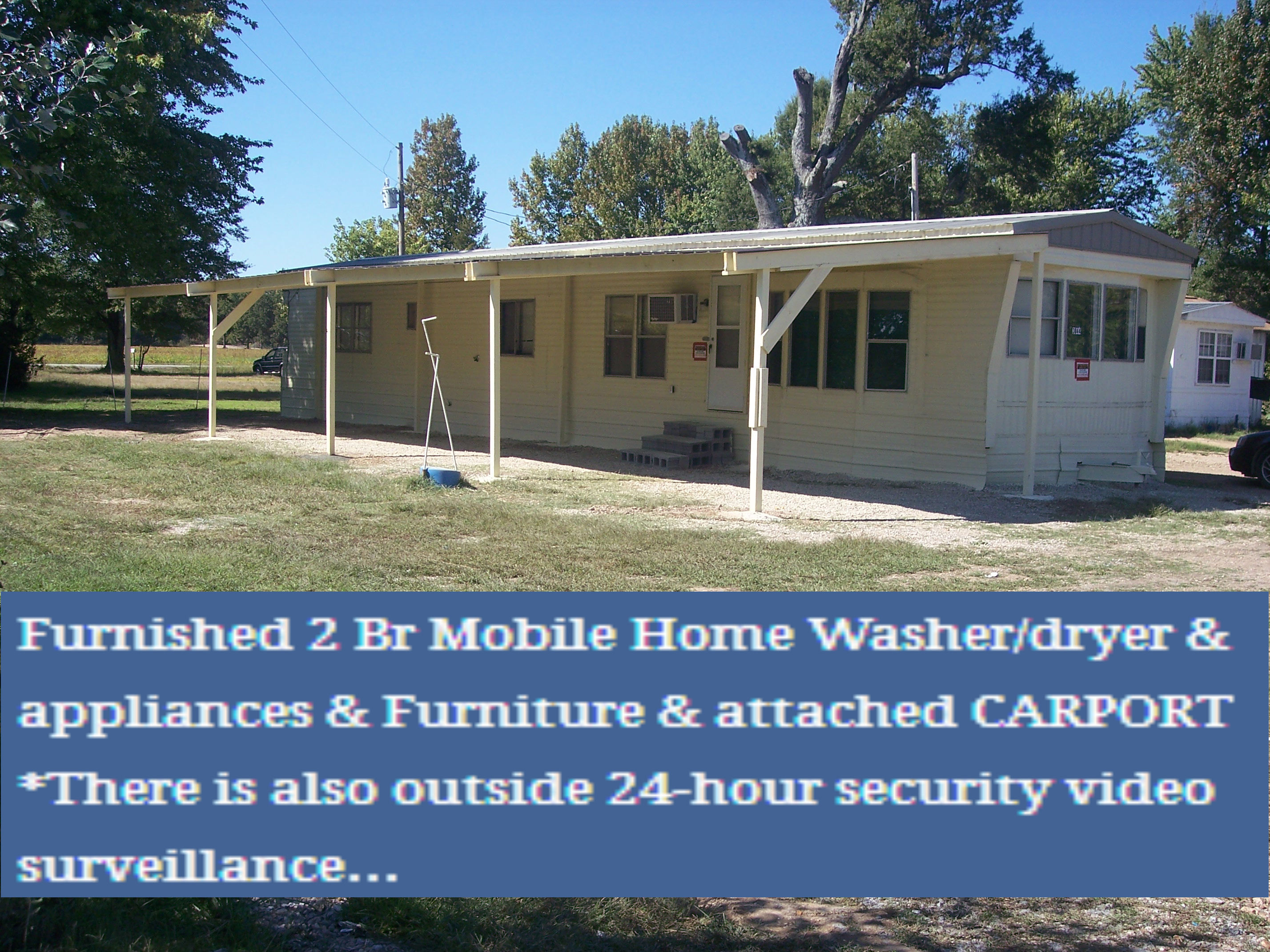 Furnished 2 Br Mobile Home Washer/dryer U0026 Appliances U0026 Furniture U0026 Attached  CARPORT All Electric Mobile Home
